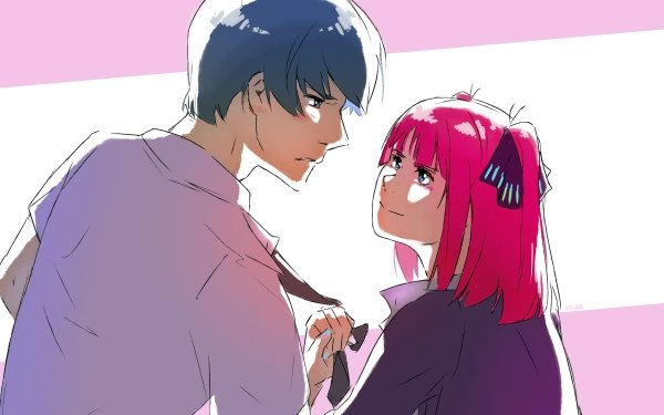Anime The Quintessential Quintuplets Nino Nakano Fuutarou Uesugi HD Wallpaper | Background Image