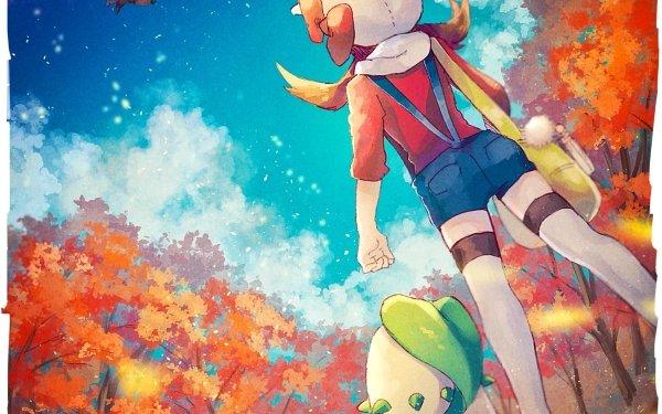 Video Game Pokémon: HeartGold and SoulSilver Pokémon Ho-oh Chikorita Lyra Girl HD Wallpaper   Background Image
