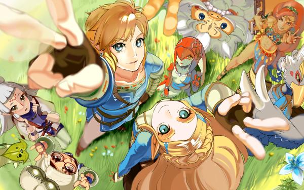 Video Game The Legend of Zelda: Breath of the Wild Zelda Link Urbosa Mipha Revali Daruk Paya Purah Korok HD Wallpaper | Background Image