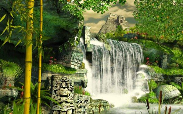 Fantaisie Waterfall Fond d'écran HD | Image