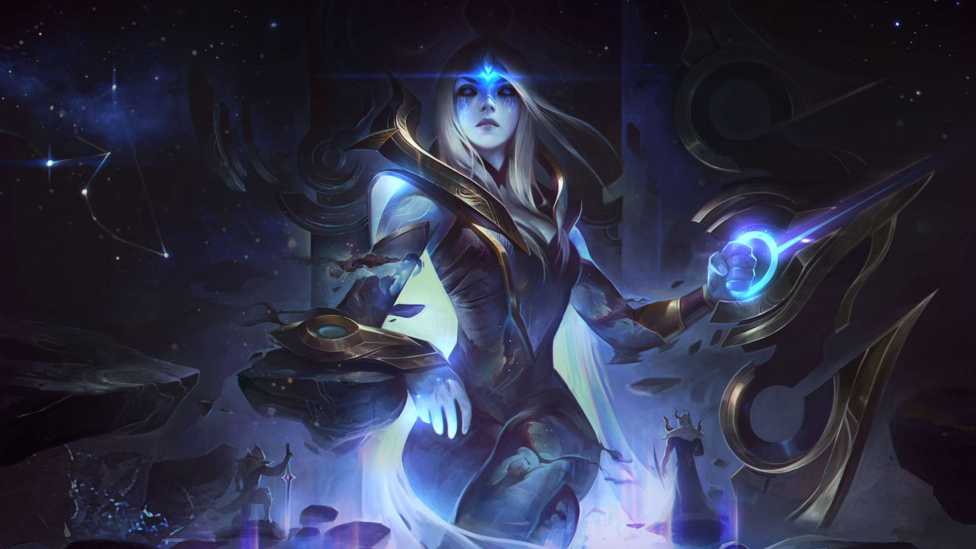 Cosmic Queen Ashe HD Wallpaper | Background Image | 1920x1080 | ID:1017907  - Wallpaper Abyss