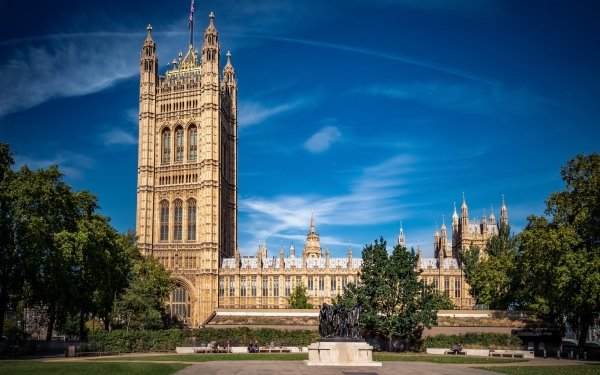 Man Made Palace Of Westminster Palaces United Kingdom Architecture HD Wallpaper | Background Image