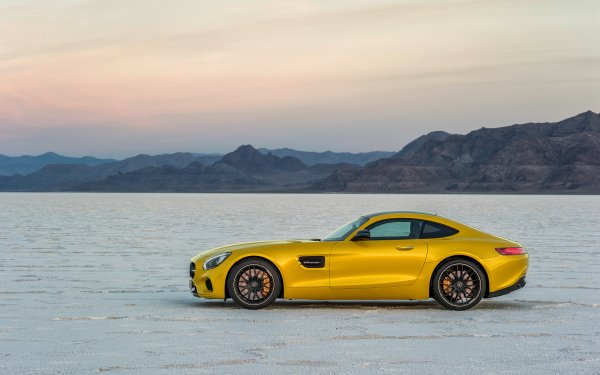 Vehicles Mercedes-Benz AMG GT Mercedes-Benz Car Yellow Car Sport Car HD Wallpaper | Background Image
