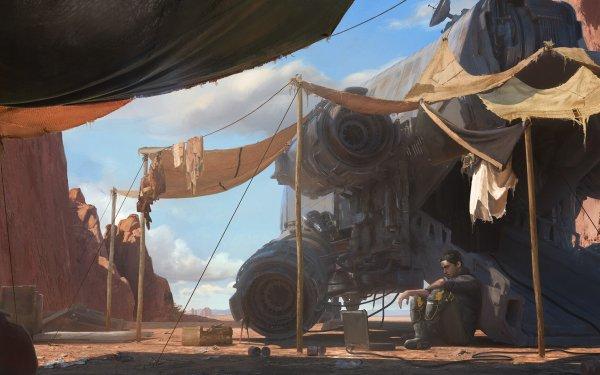 Sci Fi Men Spaceship HD Wallpaper | Background Image