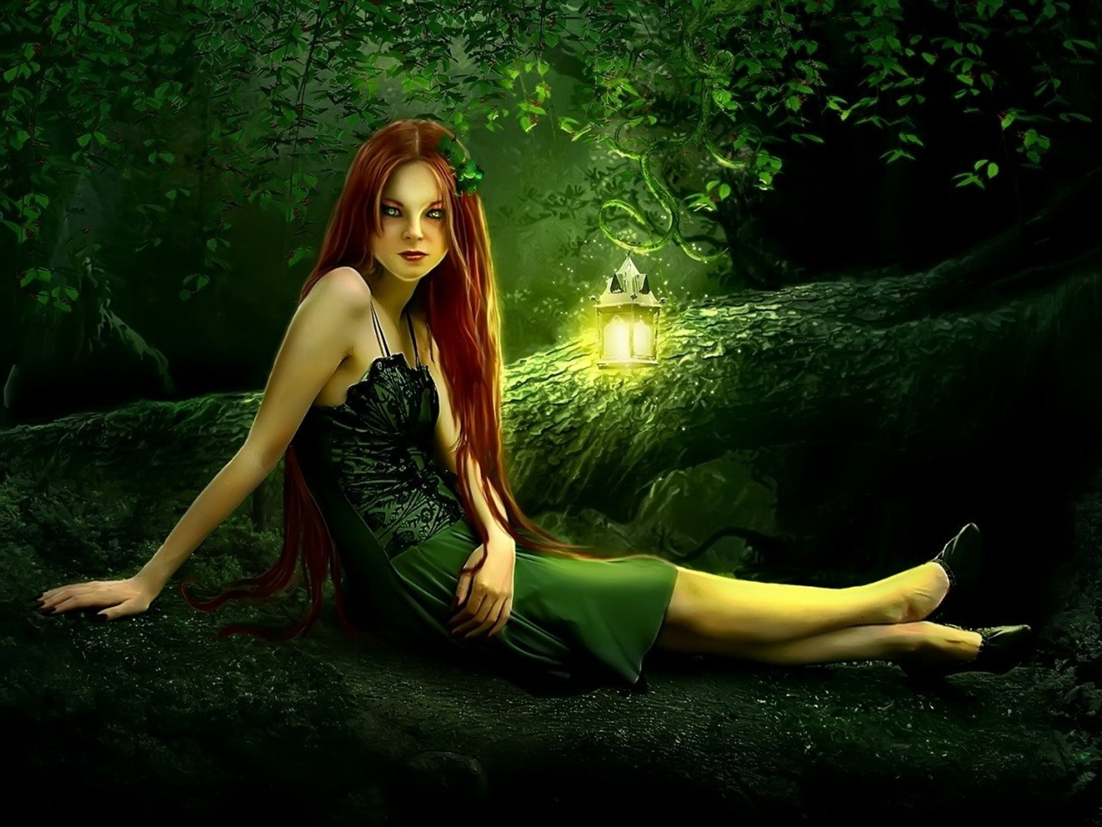 fantasy,girl,forest,beautiful Wallpapers and Backgrounds