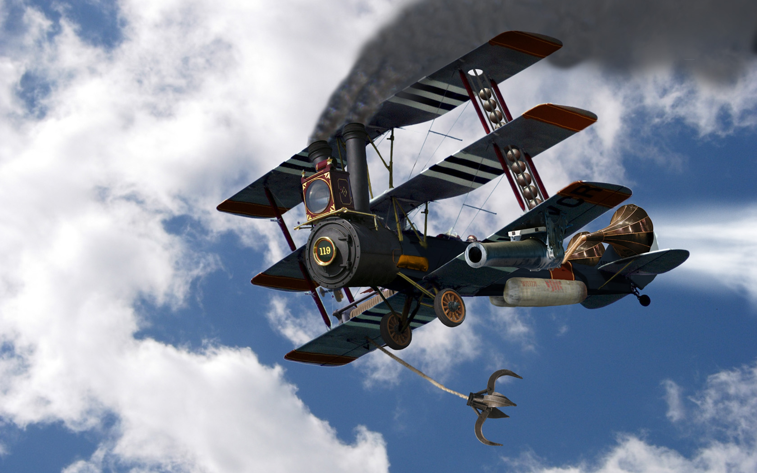 CGI - Aircraft  Unusual Airplane Cgi Fantasy Wallpaper