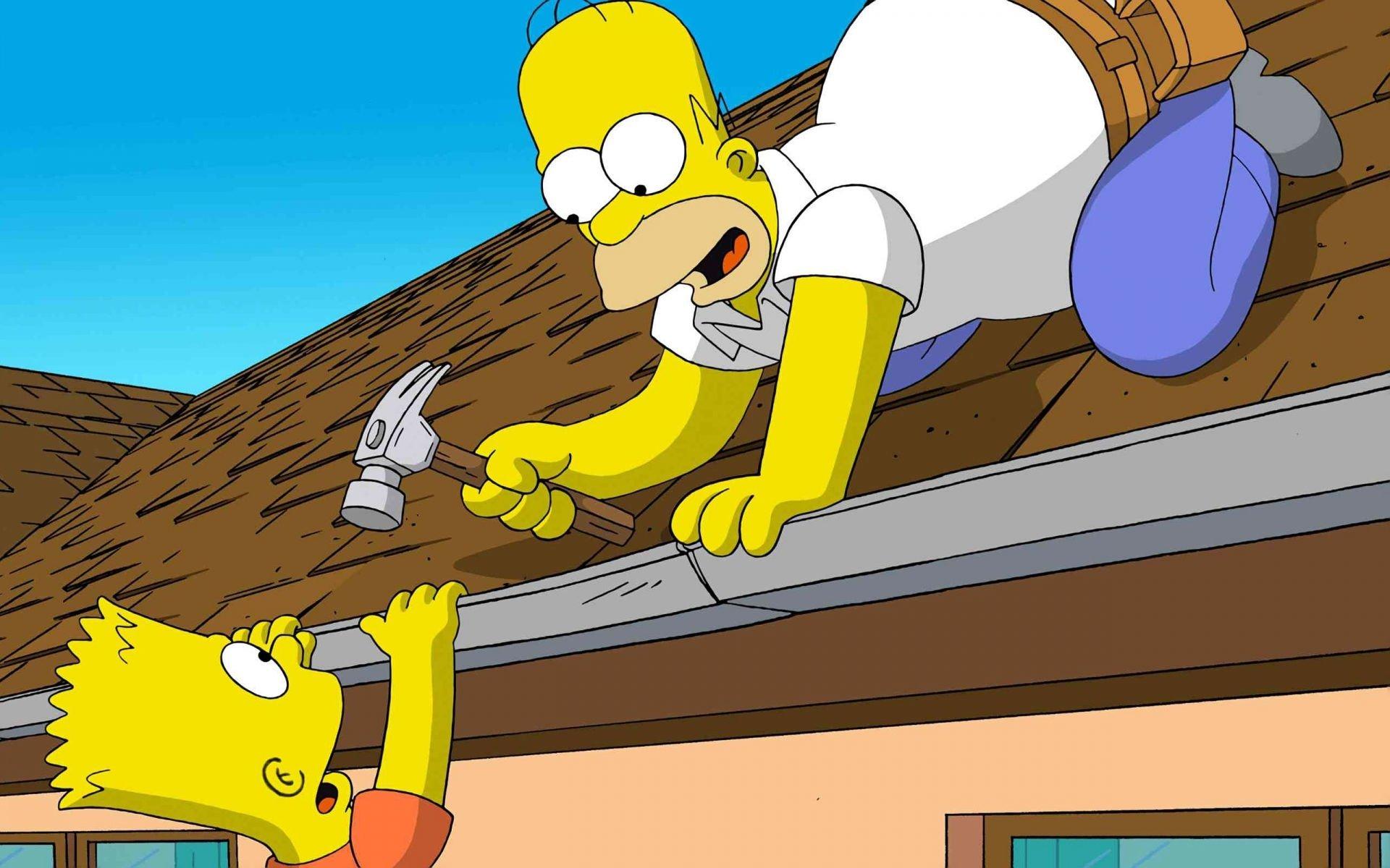 TV Show - The Simpsons  Bart Simpson Homer Simpson Wallpaper