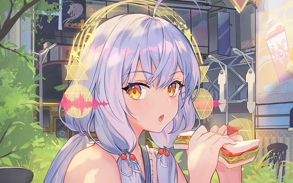 Anime Vocaloid White Hair Long Hair Yellow Eyes Headphones Xingchen HD Wallpaper   Background Image
