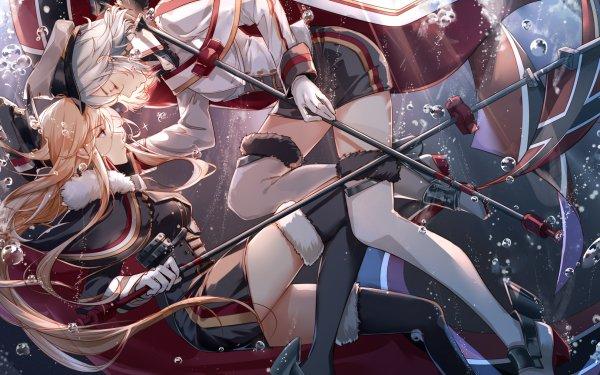 Anime Azur Lane Tirpitz Bismarck HD Wallpaper | Background Image