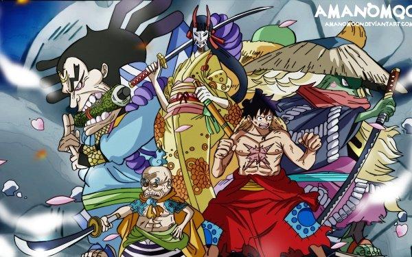 Anime One Piece Kiku Monkey D. Luffy Kawamatsu HD Wallpaper | Background Image