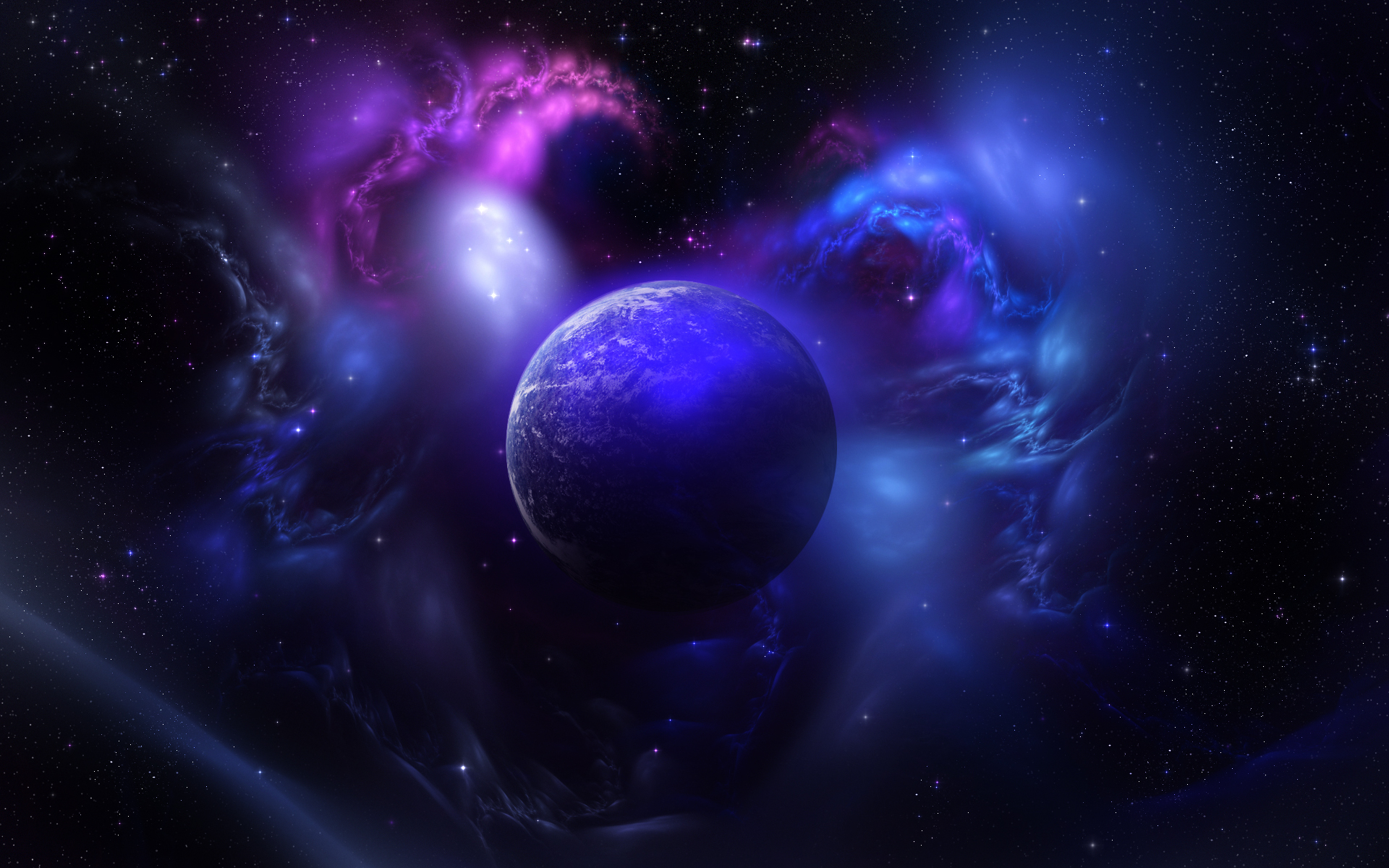 Science-Fiction - Planet  - Dunkel Hintergrundbild
