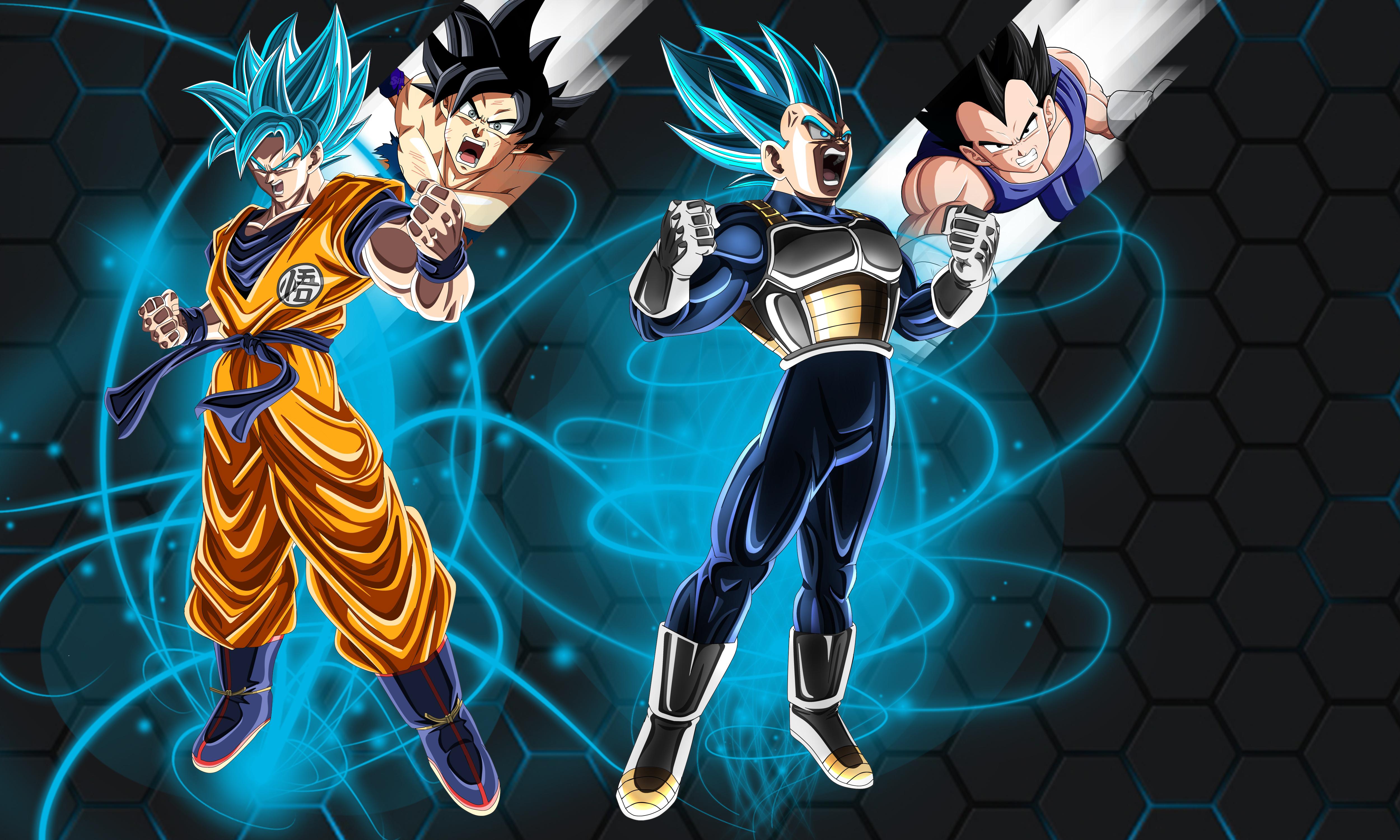 Goku And Vegeta 4k Ultra Fondo De Pantalla Hd Fondo De