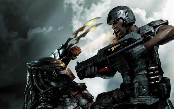 Videospel Aliens Vs. Predator Alien Predator HD Wallpaper | Achtergrond