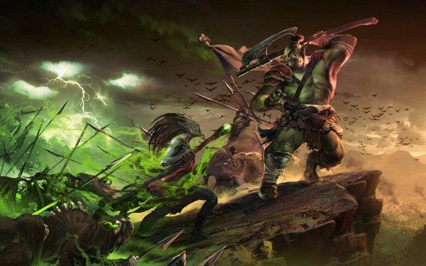 Fantaisie Orc Magique Eclair Axe Créature Fond d'écran HD | Image