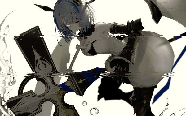 Anime Azur Lane Gascogne White Hair Short Hair HD Wallpaper | Background Image