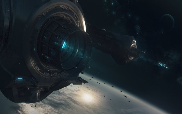 Sci Fi Spaceship Space Station Space HD Wallpaper   Background Image