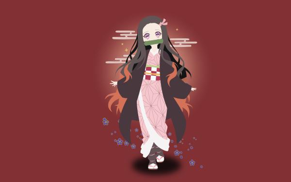 Anime Demon Slayer: Kimetsu no Yaiba Nezuko Kamado Kimetsu no Yaiba HD Wallpaper   Background Image
