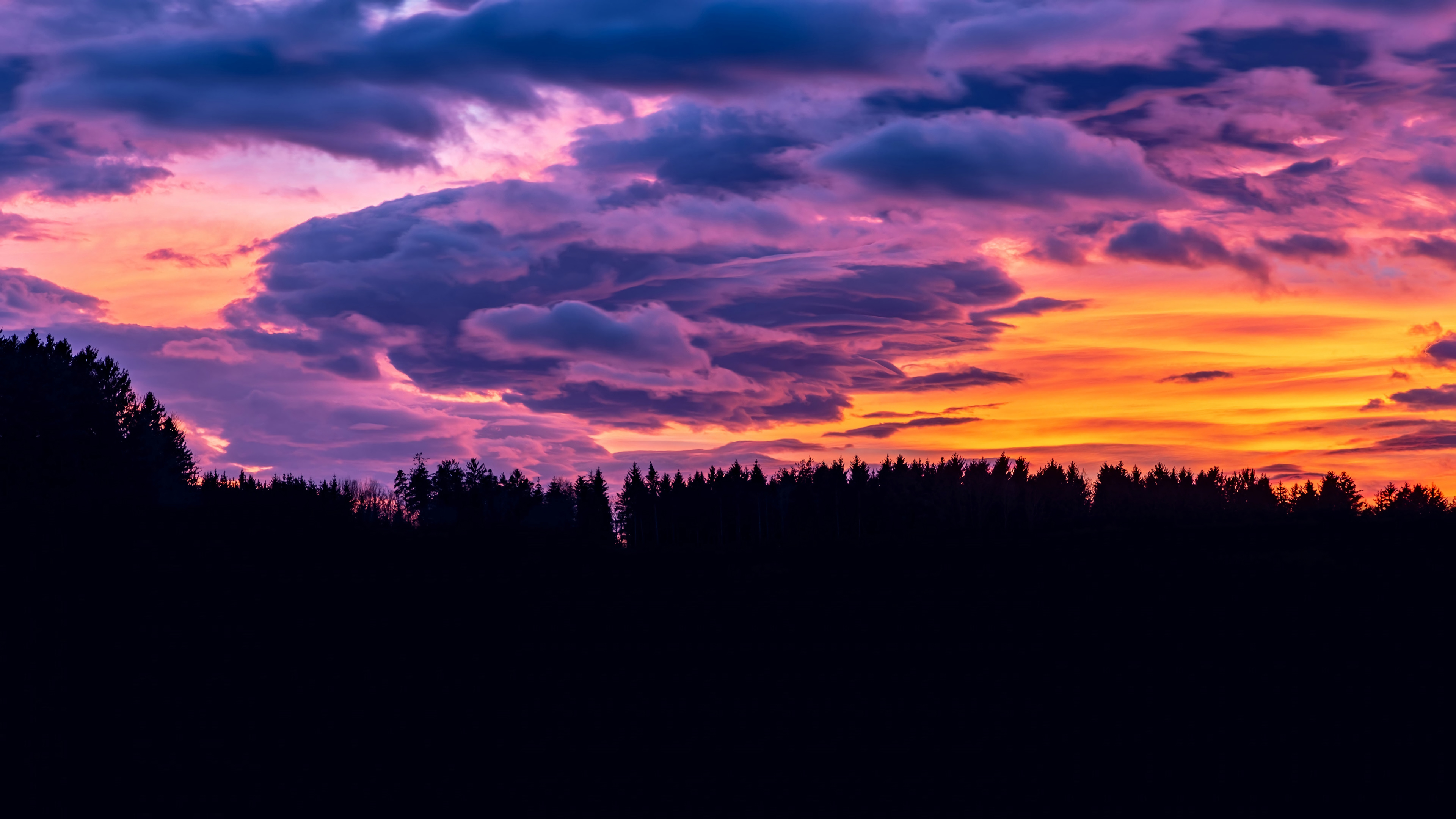 purple clouds at sunset 4k ultra hd wallpaper background image 3840x2160 id 1057672 wallpaper abyss purple clouds at sunset 4k ultra hd