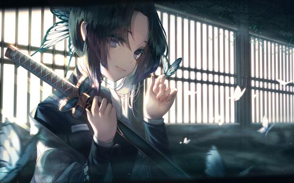 Anime Demon Slayer: Kimetsu no Yaiba Shinobu Kochou HD Wallpaper | Background Image