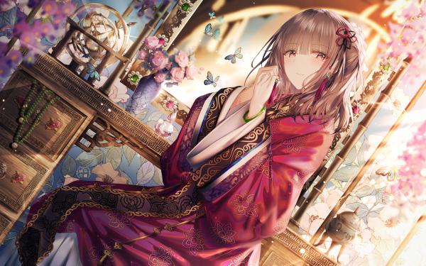Anime Original Chinese Dress HD Wallpaper | Background Image