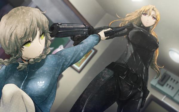 Anime Steins;Gate Suzuha Amane Moeka Kiryū HD Wallpaper | Background Image