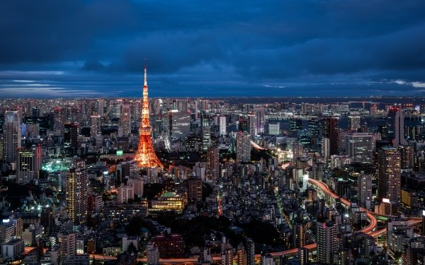 Man Made Tokyo Cities Japan Tokyo Tower City Building Cityscape Skyscraper HD Wallpaper | Background Image