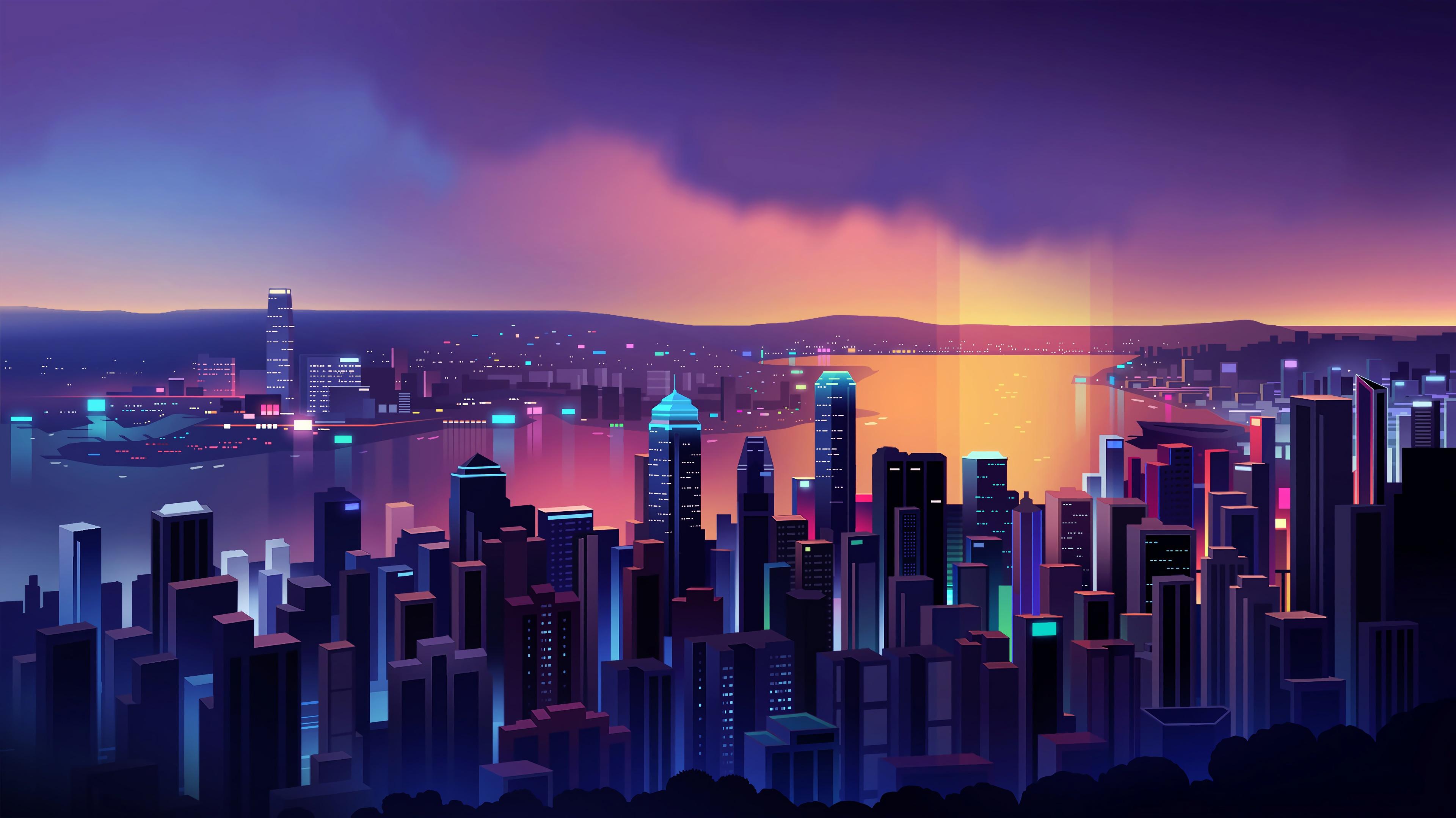 Neon City 4k Ultra Hd Wallpaper Background Image 3840x2160 Id 1063352 Wallpaper Abyss