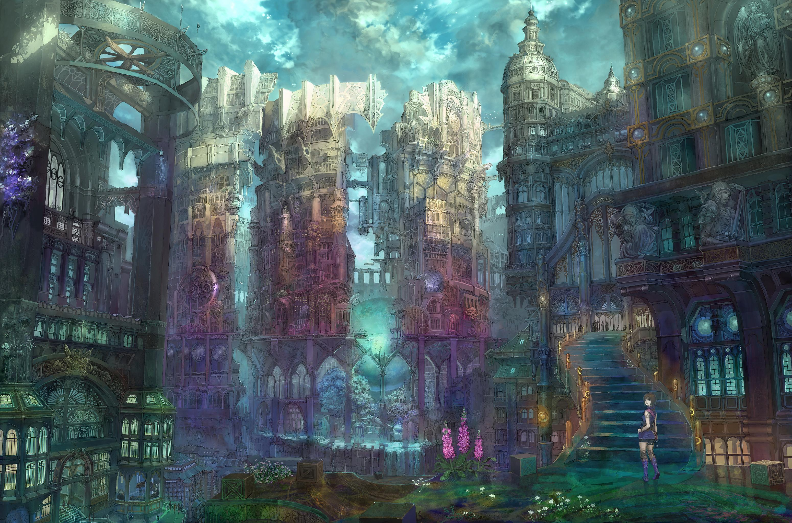 Fantasy full hd wallpaper and background 3100x2046 id for Architecture fantastique