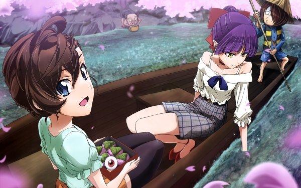 Anime GeGeGe no Kitaro Mana Inuyama Neko Musume Kitarō Medama-oyaji Fondo de pantalla HD | Fondo de Escritorio