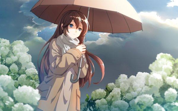 Anime Original Umbrella Long Hair HD Wallpaper | Background Image
