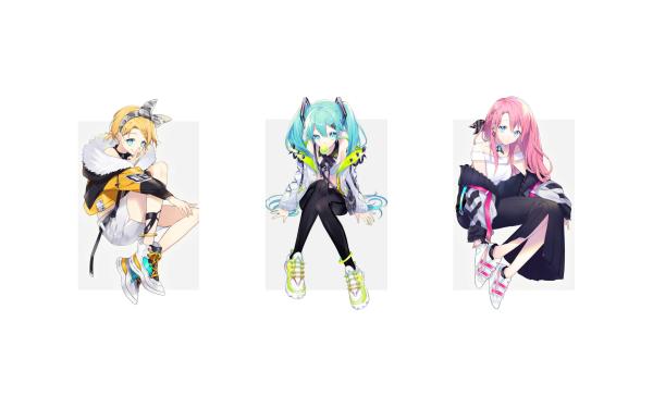 Anime Vocaloid Hatsune Miku Len Kagamine Luka Megurine HD Wallpaper | Background Image