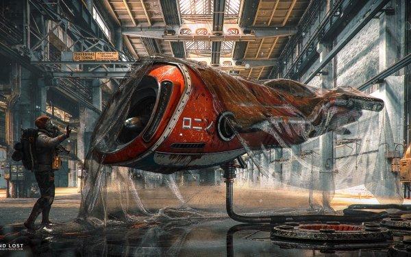 Sci Fi Vehicle Futuristic Hangar HD Wallpaper | Background Image