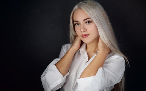 Women Model Models Blonde Long Hair HD Wallpaper | Background Image