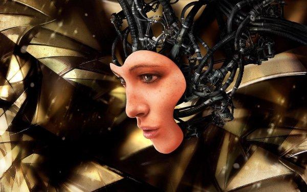 Sci Fi Robot Face Machine CGI HD Wallpaper | Background Image