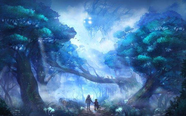 Fantaisie Enfant Forêt Fond d'écran HD | Image