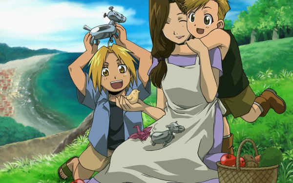 Anime FullMetal Alchemist Fullmetal Alchemist Edward Elric Alphonse Elric Trisha Elric HD Wallpaper   Background Image