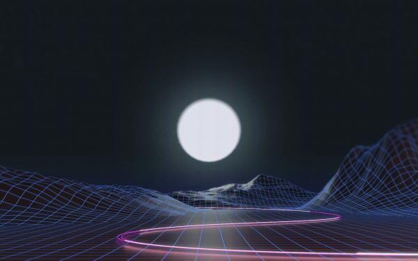 Artistic Retro Wave Vaporwave Grid HD Wallpaper | Background Image