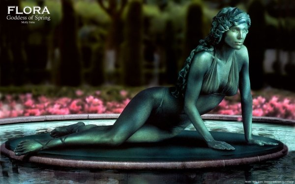 Artistic Living Statue Statue Molly Sims HD Wallpaper   Background Image
