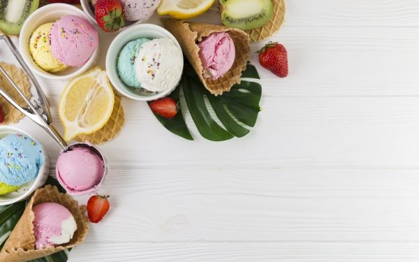 Food Ice Cream Still Life Waffle Cone HD Wallpaper | Background Image
