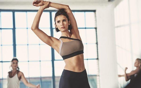 Celebrity Nina Dobrev Actresses Canada Actress Fitness Black Hair Canadian HD Wallpaper   Background Image