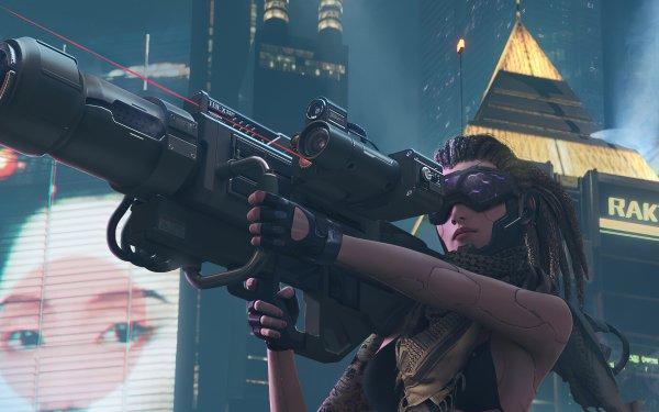 Sci Fi Cyberpunk Girl Weapon Futuristic HD Wallpaper   Background Image