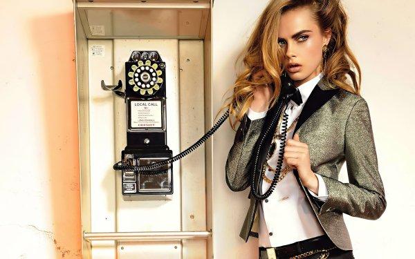 Celebrity Cara Delevingne Models United Kingdom English Blonde Phone Model Actress Telephone HD Wallpaper   Background Image