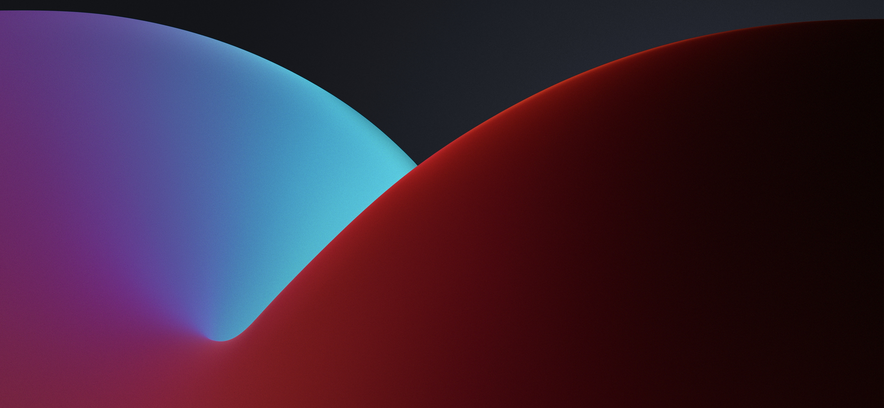 Ios 14 Stock Wallpaper Red Blue Dark Hd Wallpaper Background Image 3073x1420 Id 1083676 Wallpaper Abyss