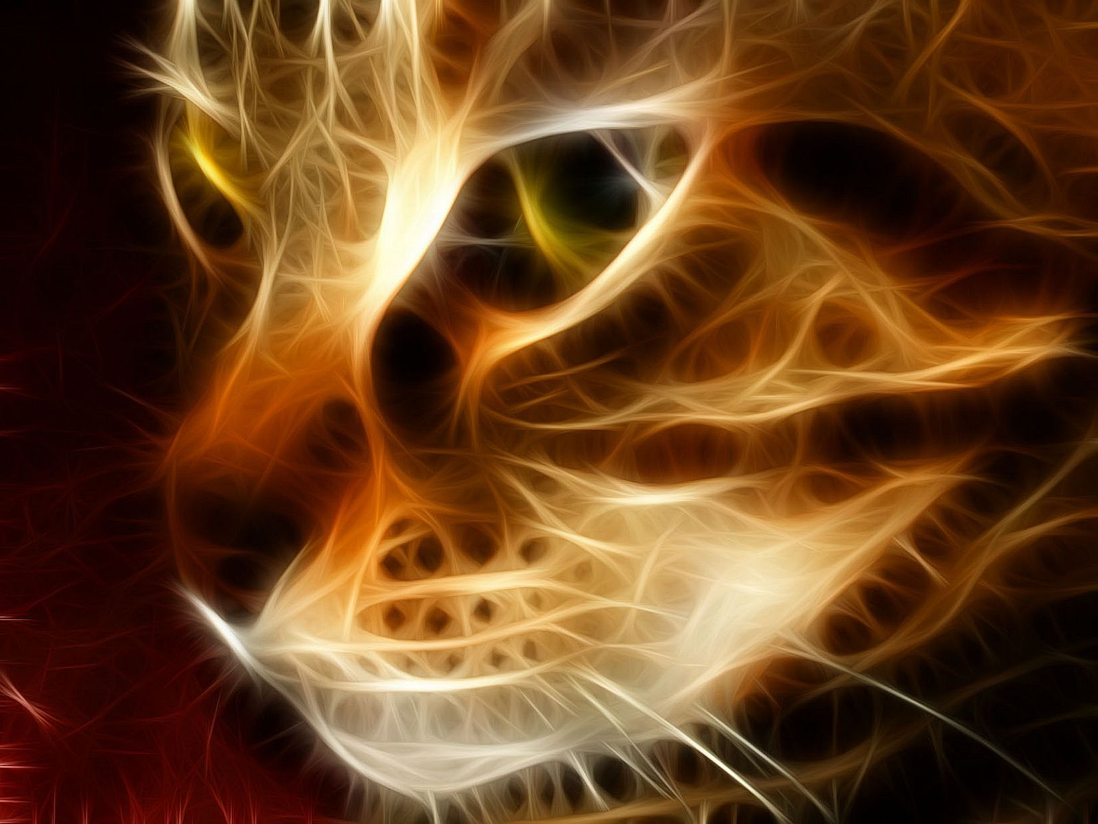 Animal - Cat  Camelot Fractal Kitten Wallpaper