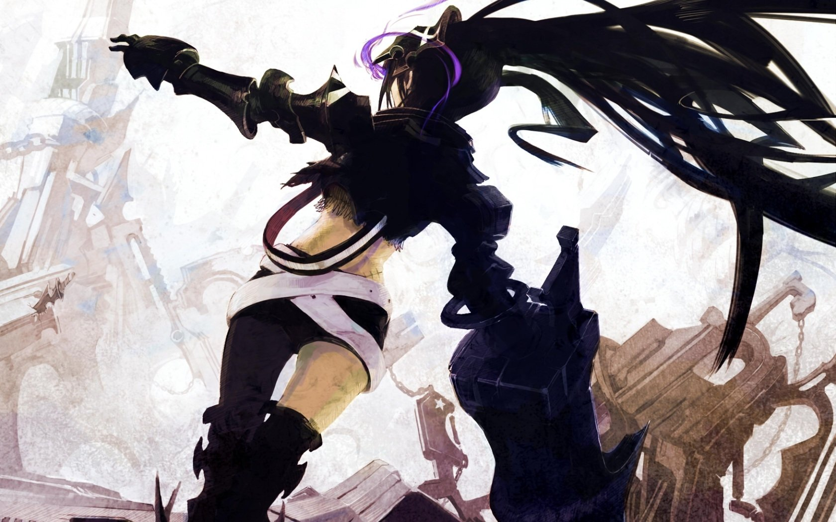 77 Insane Black Rock Shooter Hd Wallpapers Background Images