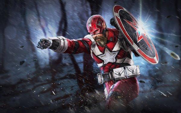 Movie Black Widow Red Guardian Shield David Harbour HD Wallpaper | Background Image