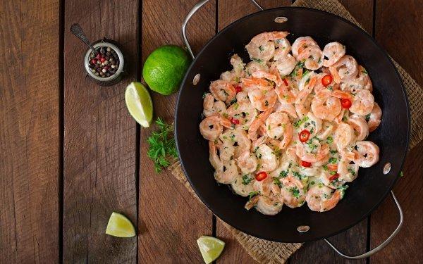 Food Shrimp Seafood Still Life HD Wallpaper | Background Image