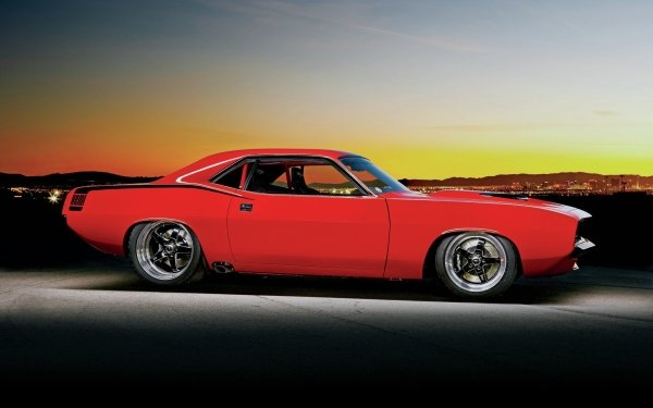 Vehicles Plymouth Barracuda Plymouth Car Classic Car Red Car HD Wallpaper   Background Image