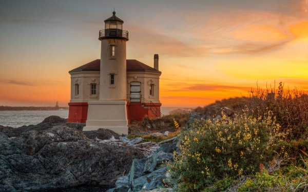 Man Made Lighthouse Buildings Oregon USA HD Wallpaper   Background Image