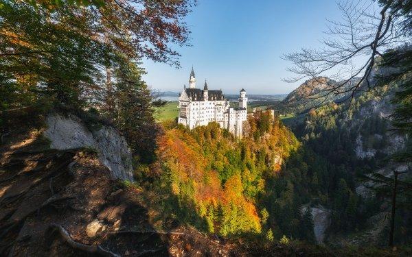 Man Made Neuschwanstein Castle Castles Germany Fall Castle Rock Bavaria Forest HD Wallpaper | Background Image